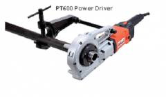 Pipe threading power driver